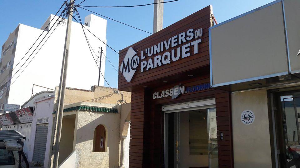 Habillage façade Panneau Led enseigne lumineuse marrakech