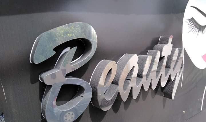 Panneau Parfumerie Enseigne lumineuse MARRAKECH salon spa coiffure beauté Alucobond - Maroc casa, rabat, Ben Guerir, Safi, Chichaoua, Essaouira, Kelaa sraghna, Beni Mellal, settat, berrechid.