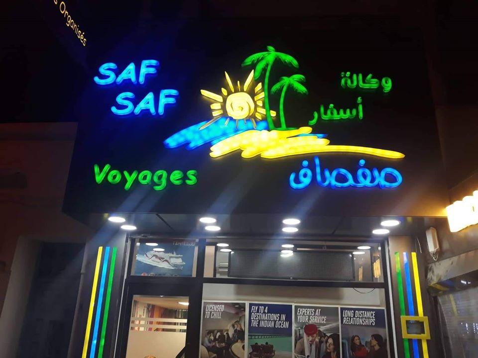 Panneau led marrakech agence de voyage - Enseigne lumineuse pizza MARRAKECH -- habillage de façades agence de voyage Alucobond MARRAKECH MAROC