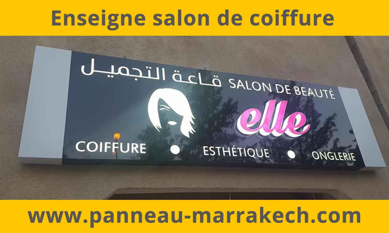 Fabricant et installateur d'enseignes lumineuses et Panneau salon de beauté, coiffure, esthétique, SPA