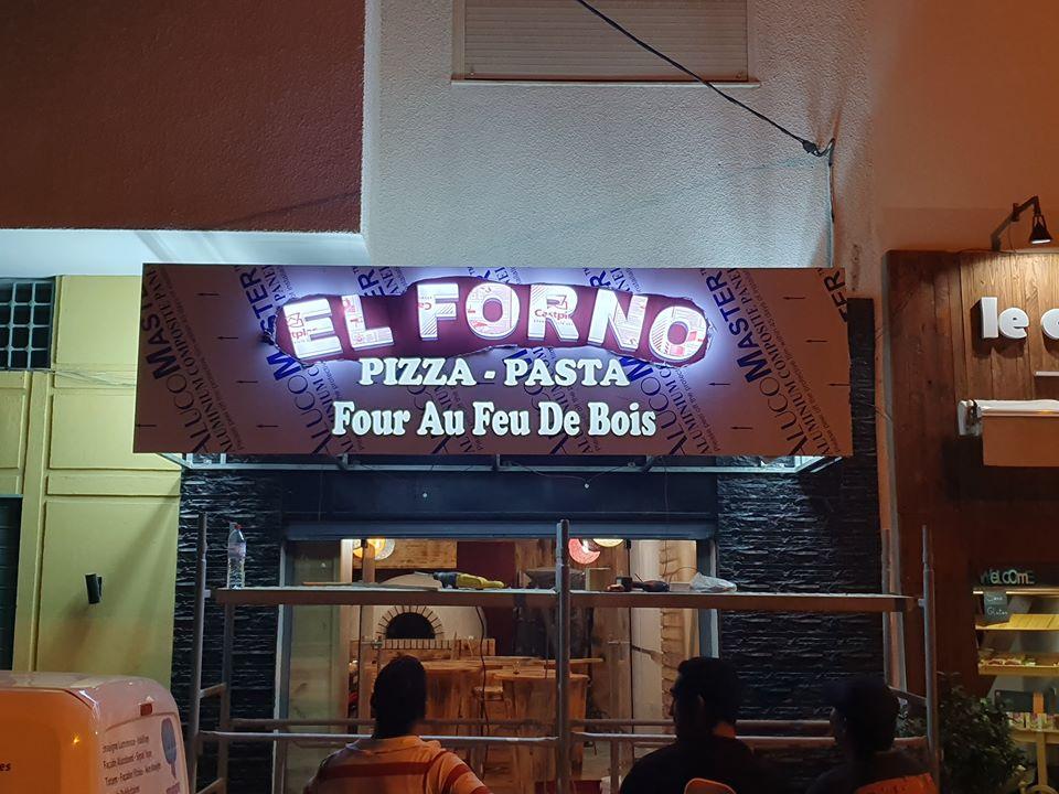 Panneau led marrakech pizza - Enseigne lumineuse pizza MARRAKECH -- habillage de façades pizza Alucobond MARRAKECH MAROC