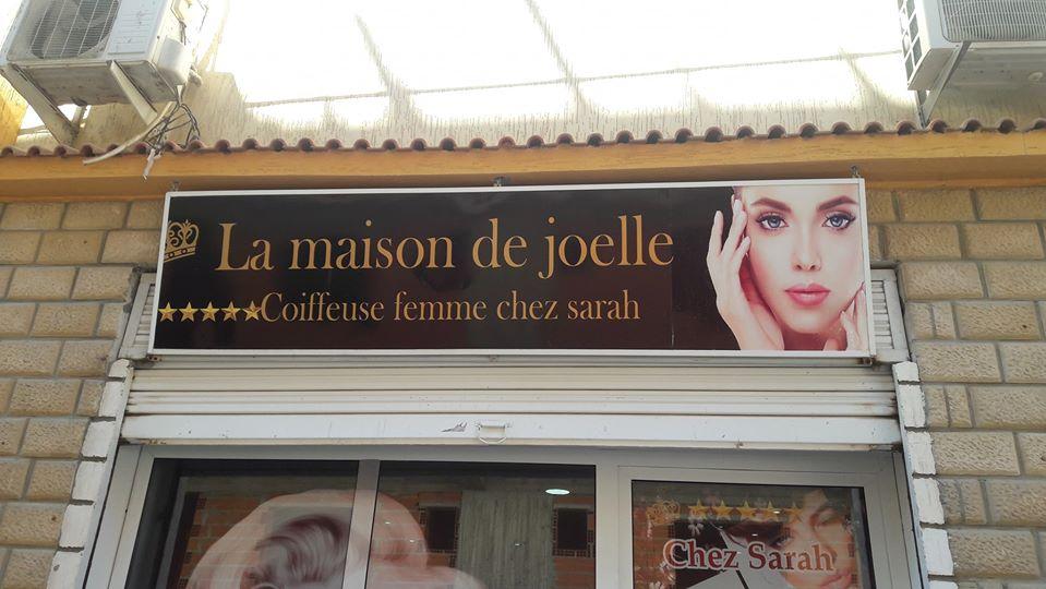 réalisation D'habillage et habillage vitrine one way vision salon de beauté sur Marrakech