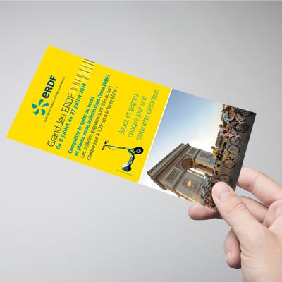 Impression de cartes de visites, flyers, dépliants, brochures