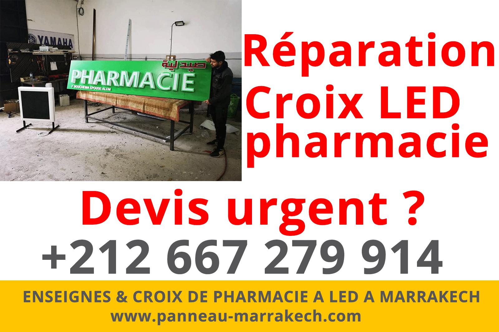 Réparation De Votre Enseigne Lumineuse Et Croix Led De Pharmacie