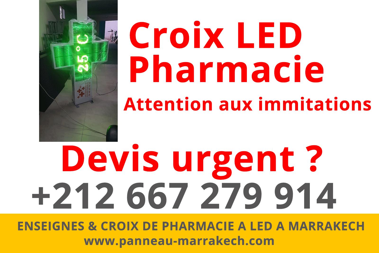 Croix De Pharmacie Lumineuse à LED MARRAKECH