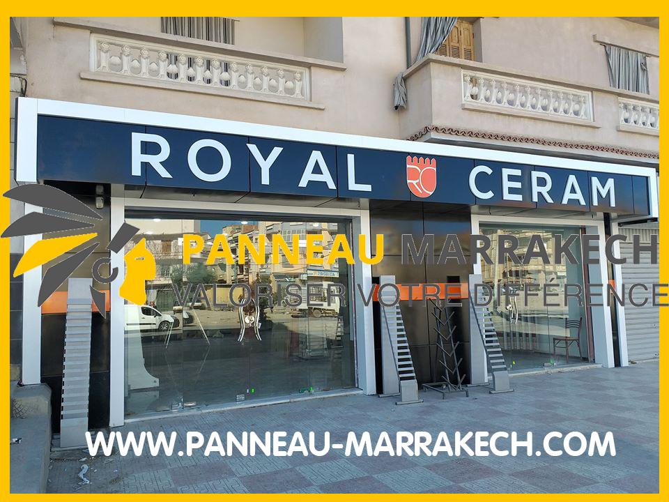 تغليف الواجهات و تزيين المحلات من الداخل و الخارج مرحبا بكم عند panneau marrakech