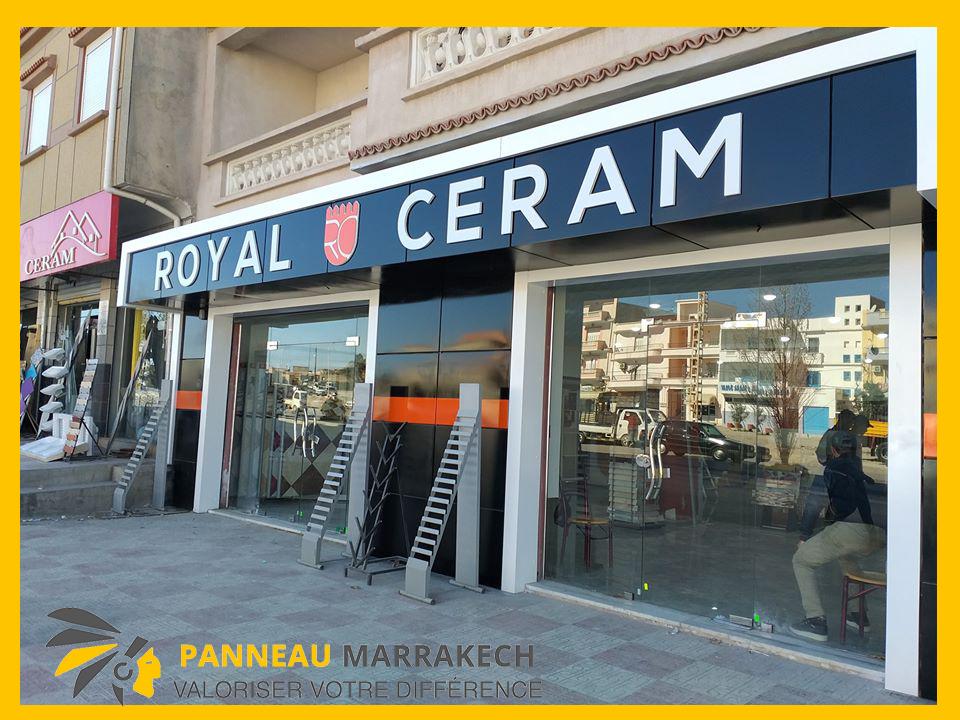 ديكور واجهات محلات تغليف الواجهات و تزيين المحلات من الداخل و الخارج مرحبا بكم عند panneau marrakech